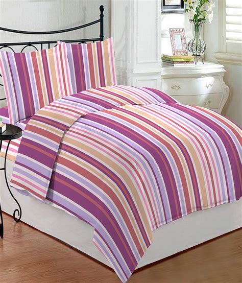 bombay dyeing bed sheets bombay dyeing bluebird stripes double bed sheet with 2