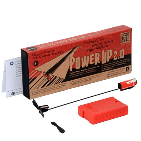 How To Make A Motorized Paper Airplane - powerup 2 0 electric paper airplane conversion kit