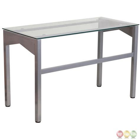 Tempered Glass Desk by Desk With Clear Tempered Glass Top