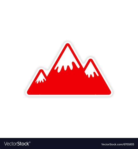 printable sticker paper canada paper sticker canadian mountain on white vector image