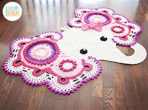 Elephant Rug by Josefina And Jeffery Elephant Rug Pdf Crochet Pattern