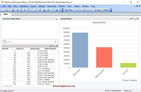 qlikview tutorial step by step create new qlikview report using wizard