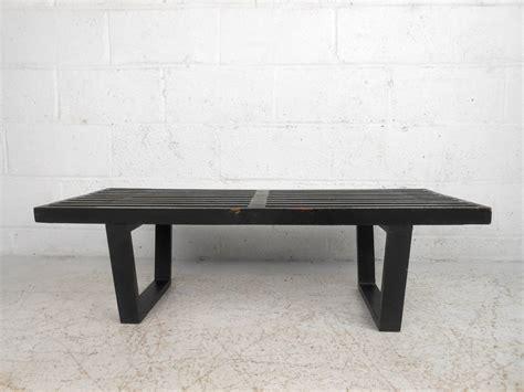 mid century modern slat bench mid century modern miniature george nelson slat bench for