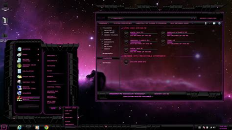 pc glass themes pink dark glass for win7 desktop themes free windows 7