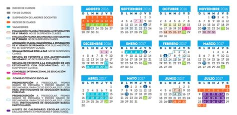 Calendario Actual 2017 Calendario Escolar 2016 2017 Gobierno Estado De