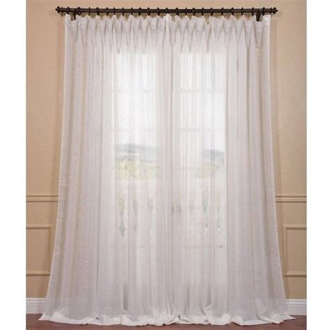 layering curtains with sheer eff signature off white extra wide double layer sheer