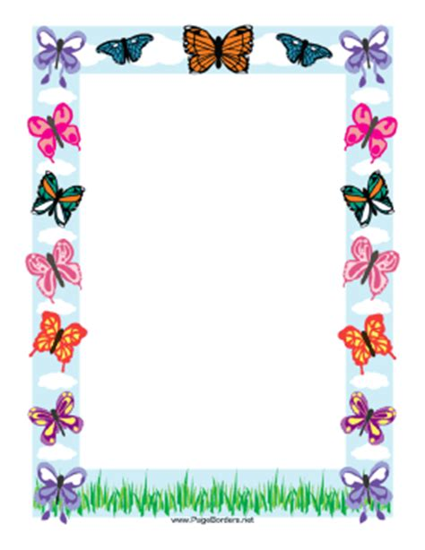 butterfly border template butterfly border