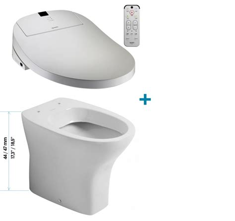 Conway Bidet Coway Ba13 Be Washlet Sanitosco Raised Height 18 5 Quot 47cm