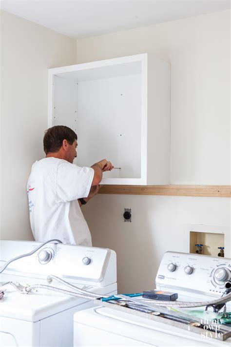 How To Install Cabinets In Laundry Room Mudroom Update Installing Wall Cabinets In My Own Style