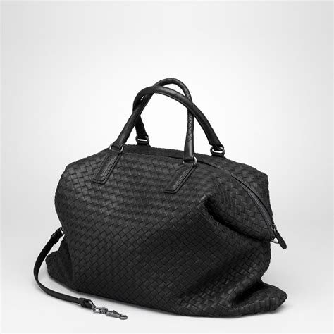 Bottega Nero Intreciatto Napa Tote Bag Handbag Tas Brande bottega veneta nero intrecciato nappa convertible bag in black nero lyst