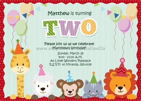 free printable birthday invitations with animals animal party invitation printable animal birthday