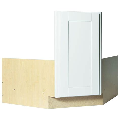 Corner Kitchen Sink Base Cabinet Hton Bay Shaker Assembled 36x34 5x24 In Corner Sink Base Kitchen Cabinet In Satin White