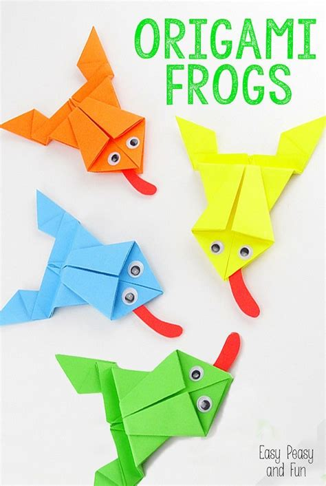 Learn Origami Make A Paper Frog - origami frog frogs and origami on