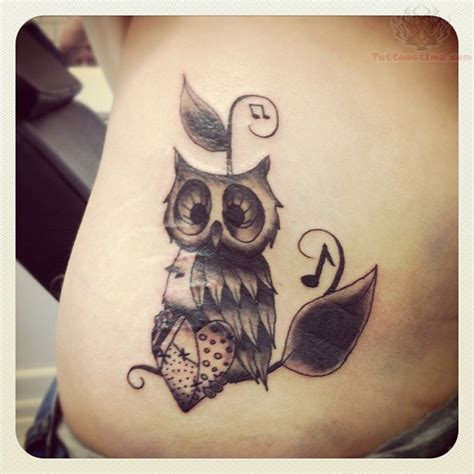 music tattoo designs tumblr owl and notes