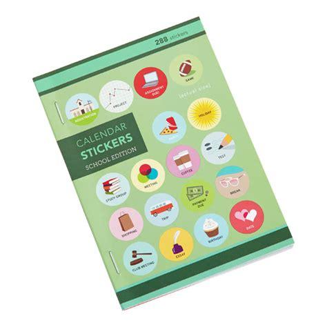 S Calendar Stickers School Calendar Stickers The Container Store