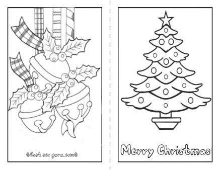 holiday card templates for pages printable christmas tree card to color in page for kids