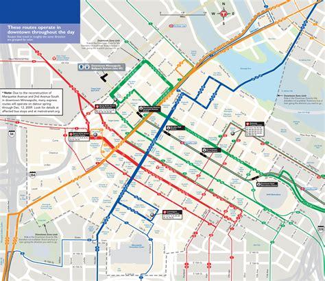 Minneapolis Light Rail Map by Minneapolis Downtown Map