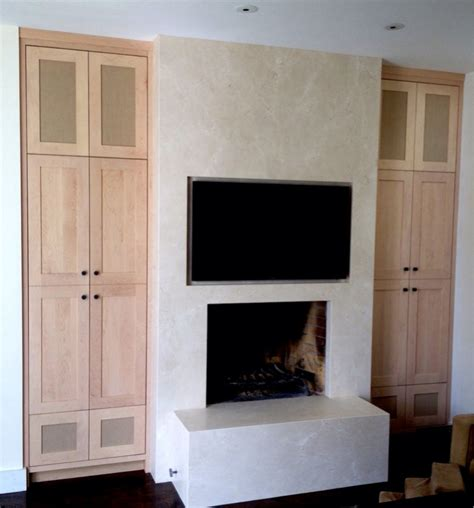 et center with speaker cloth doors carpentry picture
