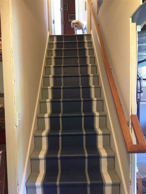 painted basement stair runner diy ideas