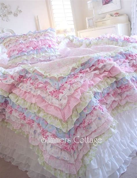 Shabby Overly Chic 17 best ideas about ruffle bedspread on junk