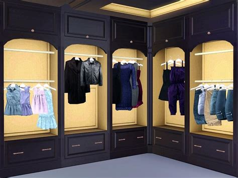 Sims 3 Closet by Flovv S Requested White Brown Cherry Add On Free
