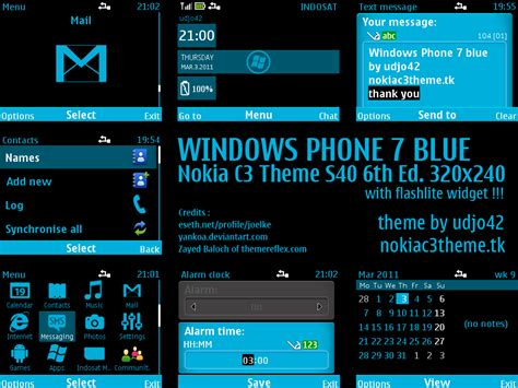 nokia c3 themes windows 7 windows phone 7 blue by udjo42 on deviantart