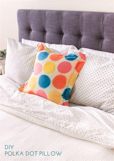 pillow bed diy diy polka dot pillow the crafted life