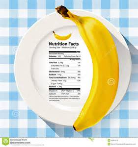 vector of nutrition facts banana stock vector image