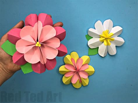 How We Make Flower With Paper - easy 3d paper flowers for ted s