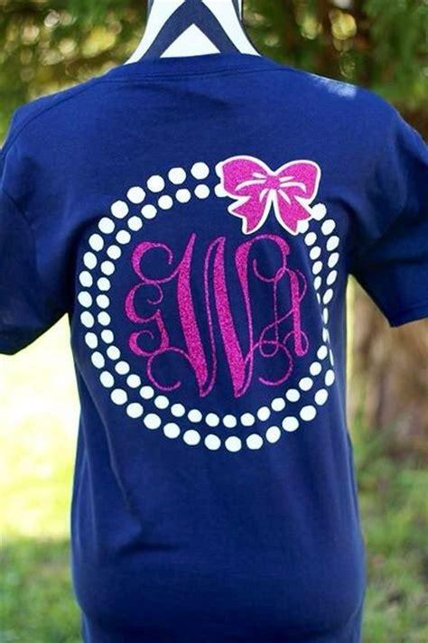 design a monogram shirt monogrammed pearl bow t shirt by carolinasilhouettes on