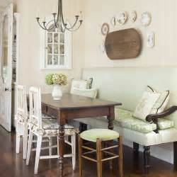 Dining Room Table With Bench Against Wall Breakfast Area Traditional Kitchen By Emmons Design