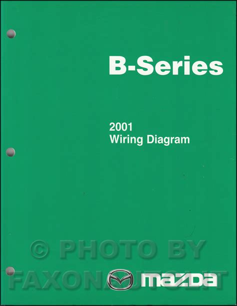 2001 mazda b series pickup truck wiring diagram manual original b2500 b3000 b4000