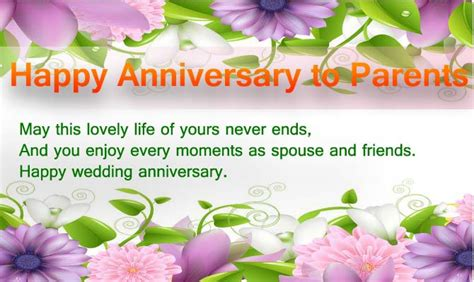 Wedding Wishes To Parents by Anniversary Wishes For Parents Happy Anniversary Wishes