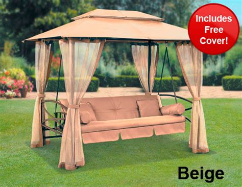 cover for garden swing suntime luxor swing gazebo with free cover review