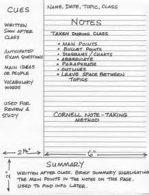 what is the cornell note taking system writer s bloc