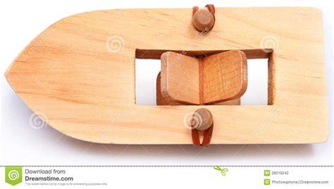 wooden rubberband powered paddleboat stock photo image