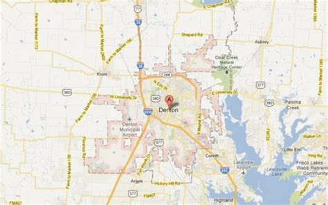 map of denton texas denton tx the daytripper