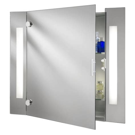 6560 Illuminated Bathroom Cabinet With Shaver Socket Bathroom Mirror Light Shaver Socket