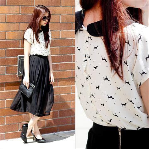 tammy defox zara shirt skirt the pleated skirt lookbook