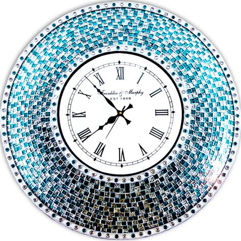 decorative wall clock decorative wall clock 22 5 quot mosaic wall clock