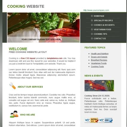 Cooking Free Website Templates In Css Html Js Format For Free Download 152 50kb Free Cooking Website Templates