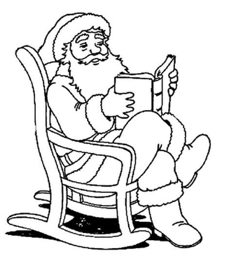 imagenes de santa claus leyendo cartas dibujos de santa claus pap 225 noel para colorear en