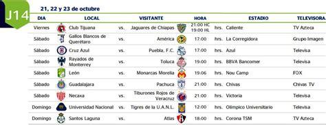Calendario Liga Mx Apertura 2015 Jornada 16 Calendario Liga Mx Jornada 16 Newcalendar