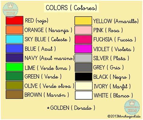 imagenes colores ingles numbers numeros y colores en ingles