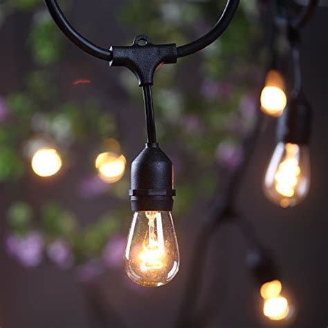 Hanging Patio String Lights Outdoor Commercial String Globe Lights 24 With 12 Hanging Dropped Sockets 12 S14
