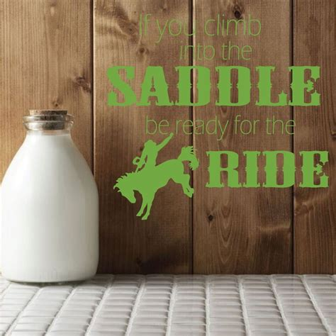 horse decor for the home cowboy wall decals quot if you climb into the saddle quot with