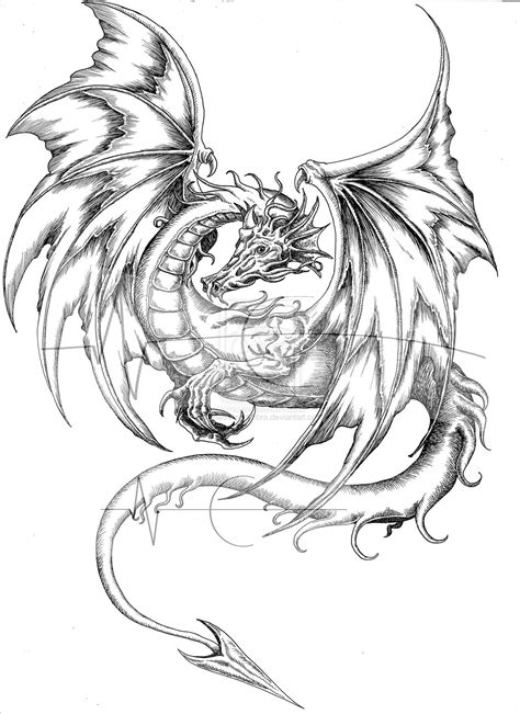 coloured dragon tattoo designs coloring page designs color pages