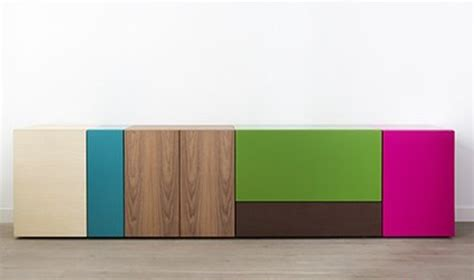 Colorful Sideboards colorful and minimalist lmnts sideboard digsdigs
