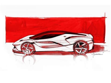 ferrari laferrari sketch video flavio manzoni on the design of laferrari car