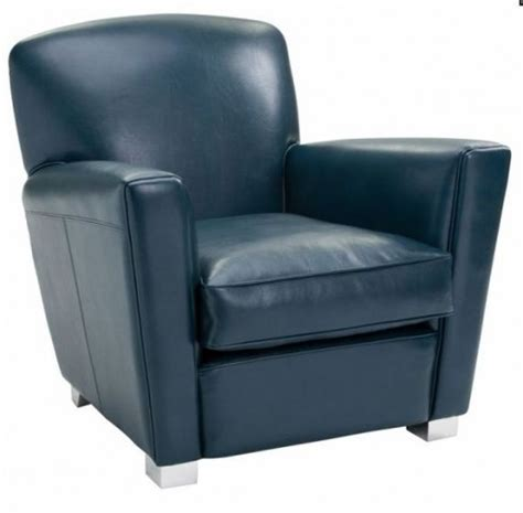 presidente blue leather armchair 100314 sunpan